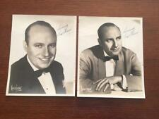 Lot Of 2 Ted Weems Signed 8x10 Photos Jazz, Big Band RARE