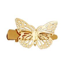 2 un. Moda Mujeres Niñas Pasador de pelo mariposa de oro Clip Horquilla Accesorios