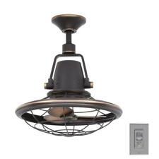 Home Decorators Bentley II 18 in. Tarnished Bronze Oscillating Ceiling Fan