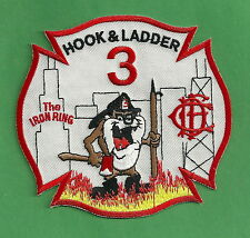 CHICAGO FIRE DEPARTMENT HOOK & LADDER COMPANY 3  PATCH TAZ