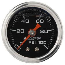 Auto Meter Autogage Fuel Pressure (FPR) Gauge 1 1/2 in. 0 - 100 Psi (1/8 NPT)