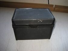 "Used card file box, snap lock lid for 5.5"" x 3.5"" cards YOUR CHOICE OF ONE SHOWN"