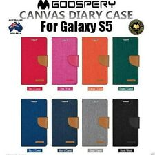 Galaxy S5 Genuine MERCURY Goospery Canvas Flip Case Wallet Cover FREE Shipping