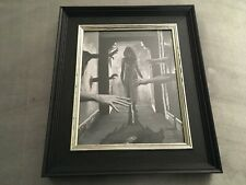 Repulsion Roman Polanski Inspired B&W Goth Horror, Original Framed Painting 8x10