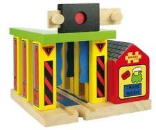 Bigjigs Toys - Double Suspension Bridge * Wooden Train Railway Rail Model