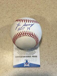 Lee Smith signed OML baseball w/ HOF 19 ** Beckett **