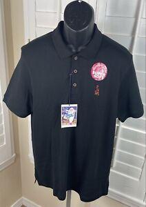 Elvis Presley Blue Hawaii Black Super Soft Polo Shirt - Men's Size Large - NWT