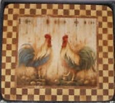 CHICKEN ROOSTER COUNTRY COASTERS - RISE & SHINE (SET OF 6)  ASHDENE