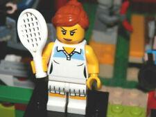 Lego Minifigures - Series 3 -  Girl Tennis Player - Lego mini figure with base