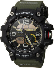 Casio G-shock MUDMASTER Twin Sensor Ana-digi 200m Green Resin Watch Gg1000-1a3