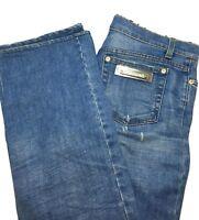 ROBERTO CAVALLI BLUE PENCIL LEG JEANS, L, $695
