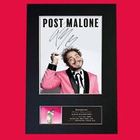 POST MALONE Signed Reproduction Autograph Mounted Photo Print A4 817