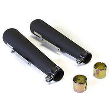"BSA - Black Reverse Cone 17"" Shorty Megaphone Mufflers (80-84030B) [51-00918B]"