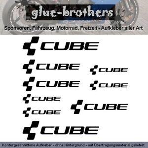 Cube Aufkleber Farbauswahl Fahrrad Decal Rennrad Bike Rad Bicycle Sticker