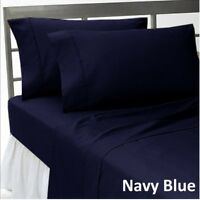 1000tc Egyptian Cotton Bedding Duvet Collection All Size Navy Blue Solid