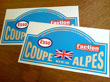 COUPE DES ALPES Classic Race Rally Motorsport Stickers Decals 2 off 150mm