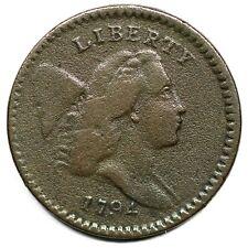 1794 C-8 R-5 EDS Liberty Cap Half Cent Coin 1/2c
