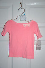 NWT Carter's pretty 3/4sleeve cotton pink top 6mon