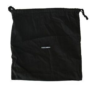 DOLCE & GABBANA Dustbag Cover Bag Cotton Black Drawstring Shoebag 40cm x 40cm