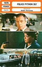 FICHE CINEMA : POLICE PYTHON 357 (mod.A) - Montand,Signoret,Corneau 1976
