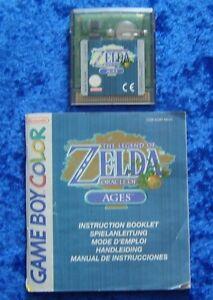 The Legend of Zelda Oracle of Ages, Nintendo GameBoy Color Spiel, Anleitung