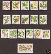 PALAU # 126-141 MNH INDIGENOUS FLOWERS