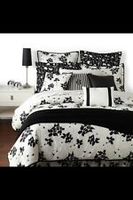 Ralph Lauren ~ Port Palace King Sham ~black floral on white ~ New!
