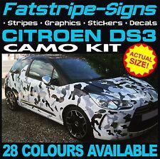 Citroen DS3 Graphique Voiture Camouflage Kit Vinyle Stickers Autocollants Capot Toit 1.4 1.6 VTR