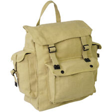 Highlander Large Pocketed Web Army Style Canvas Backpack 5034358080181 Beige