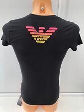 EMPORIO ARMANI Large Logo Black Tee Sizes S M XL BNIB WITH TAGS