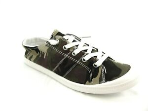 Women's Camo Lace Up Canvas Shoes Casual Comfy Slip On Sneakers Size 9.5 22660
