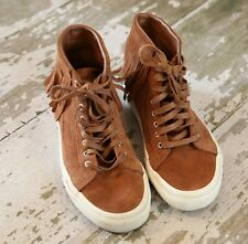 VANS SK8 -Hi Top Brown Suede Leather Skate Moc Fringe Bison Brown US 7.5 EUR 38