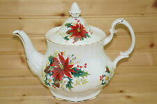"""Royal Albert Poinsettia Teapot with Matching Lid, 6-Cups, 5"""",  Full Size"""