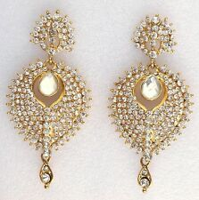 Bollywood Indian Gold Plated Bridal Wedding Costume Party Jewelry Earrings