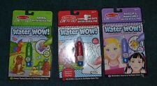 New Melissa And Doug Water Wow Lot 1 Lot of 3 Animal Connect the Dots Makeup