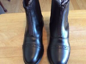 Girls Riding/ Fashion Boots EquiStar size 1 Brown New- Never Worn Ankle Height