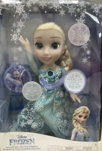 Disney Frozen Snow Glow Elsa Doll Singing And Dress Light Up