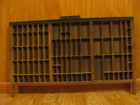 antique Hamilton large letterpress typeset printing wall shelf display shadowbox