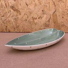 Vintage Royal Winton Green & Whilte Polka Dot Divided Leaf Dish - 25cm