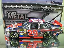 RARE! DUAL SIGNED 2011 KEVIN HARVICK BUDWEISER 4TH OF JULY GUN METAL CHILDRESS