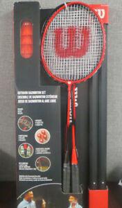 Wilson Outdoor Badminton Set 4 Racquets, 4 Shuttlecocks, 20ft Net + Bag ~NOP~