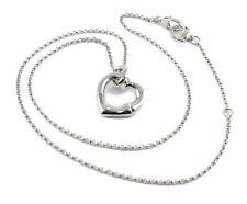 Gucci Bamboo Motif Heart Pendant Silver RP Necklace YBB393395001 YBB39339500100U