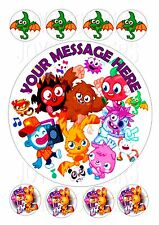 MOSHI MONSTERS ROUND PERSONALISED 7.5 + 8 EDIBLE  ICE/ICING FROSTING TOPPER