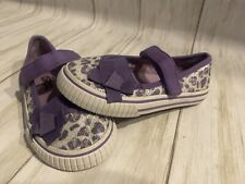 Girls Circo Devyn Silver Stars Slip on Casual Loafer Shoes Size 2