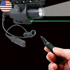 Combo Led High Flashlight+Green/Red Laser Sight 20mm Rail For Gun Rifle