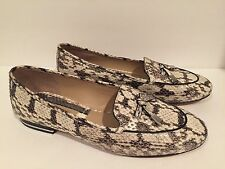 Michael Kors Moccasin Loafers Comfort Genuine Snakeskin Flat 37/6.5 New