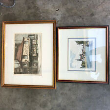 2 Vintage Etchings Old Curiosity Shop Charles Dickens Cecil Forbes Print