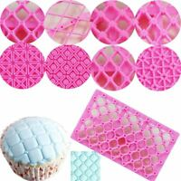 Pastry Tools Quilting Stencil Cookie Cutter Cake Mold Fondant Embossing Mould