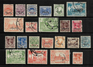 BURMA  - SMALL LOT OF 22 STAMPS VFU, UNCHECKED