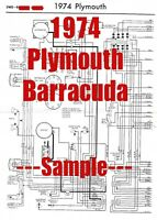 1968 Plymouth Satellite Full Car Wiring Diagram High Quality Printed Copy Ebay